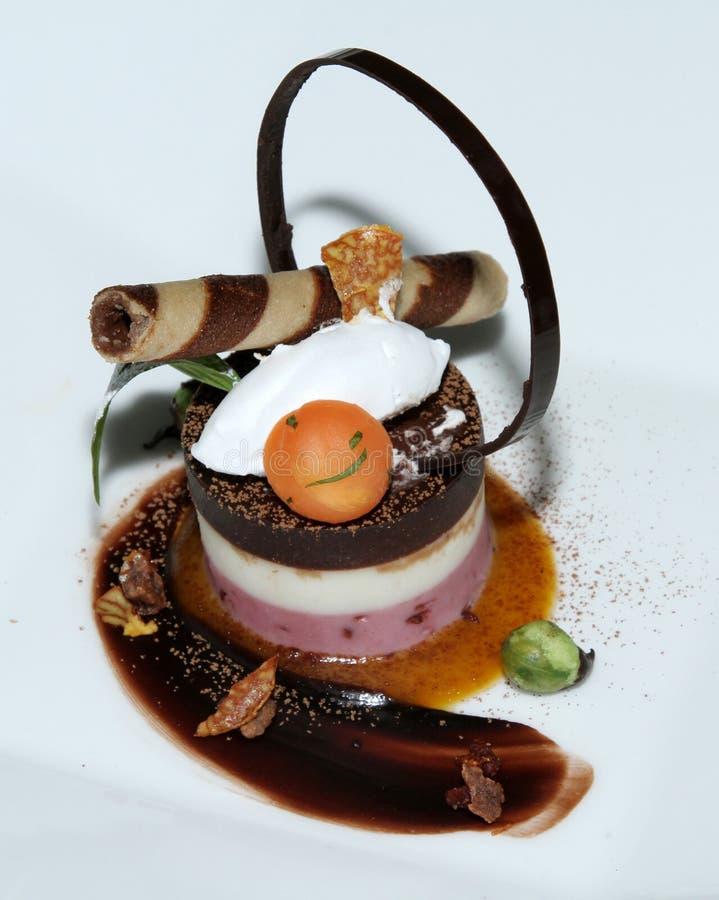 蛋糕块菌状巧克力 库存照片