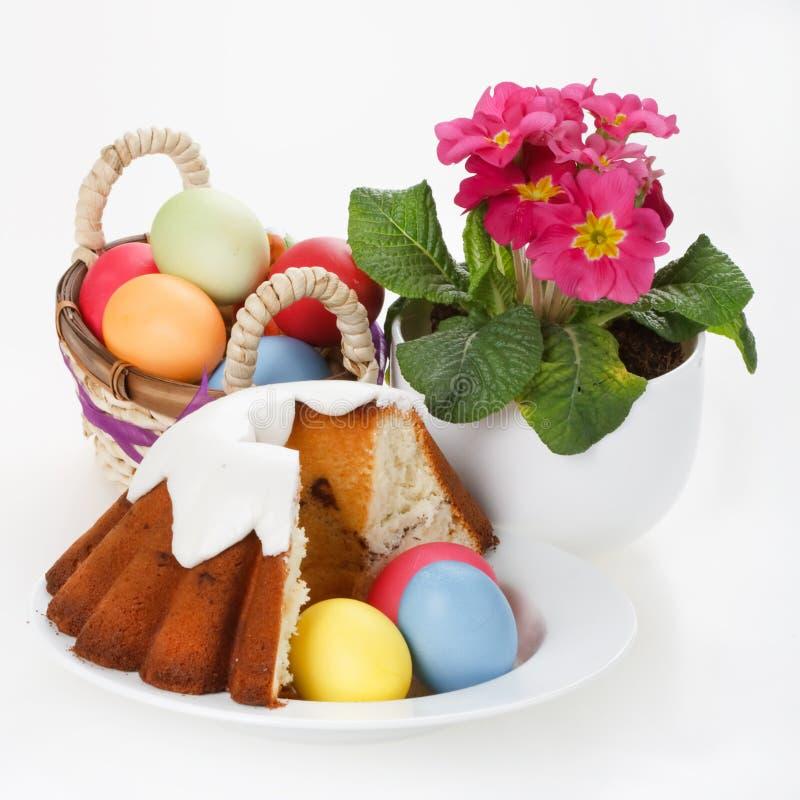 蛋糕复活节彩蛋 免版税库存照片