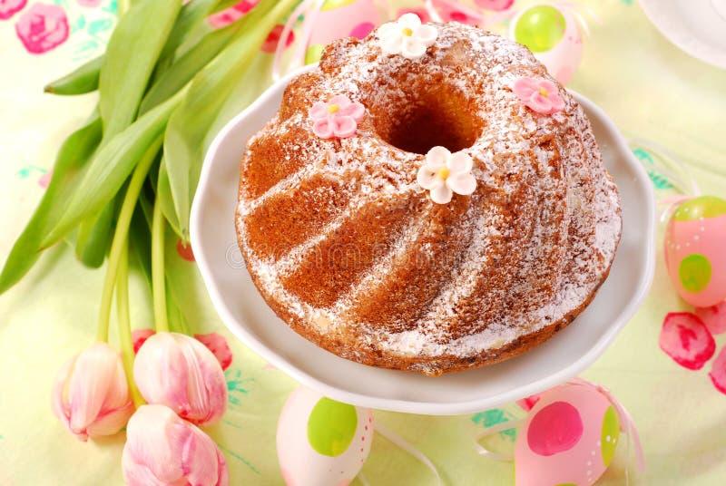 蛋糕复活节环形 免版税图库摄影