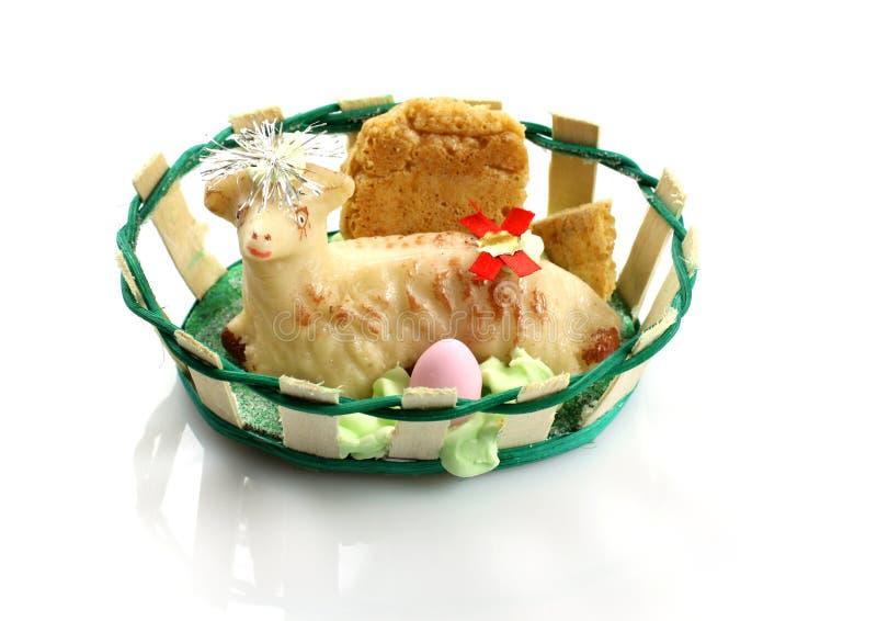 蛋糕复活节羊羔 库存图片