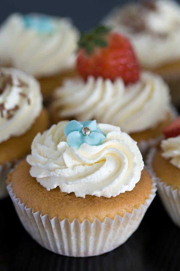 蛋糕奶油色选择 免版税库存照片