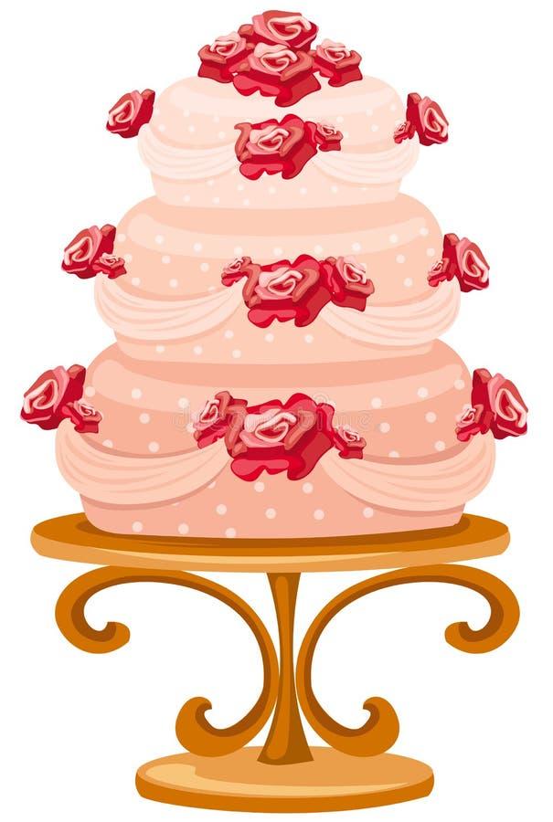 蛋糕婚礼 库存例证