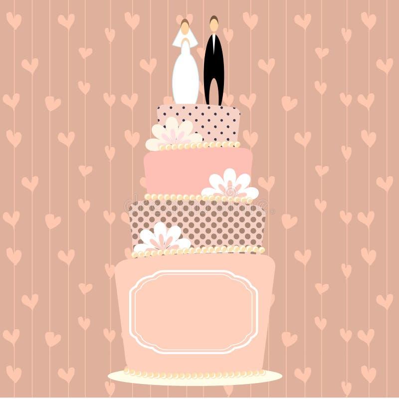 蛋糕婚礼 皇族释放例证