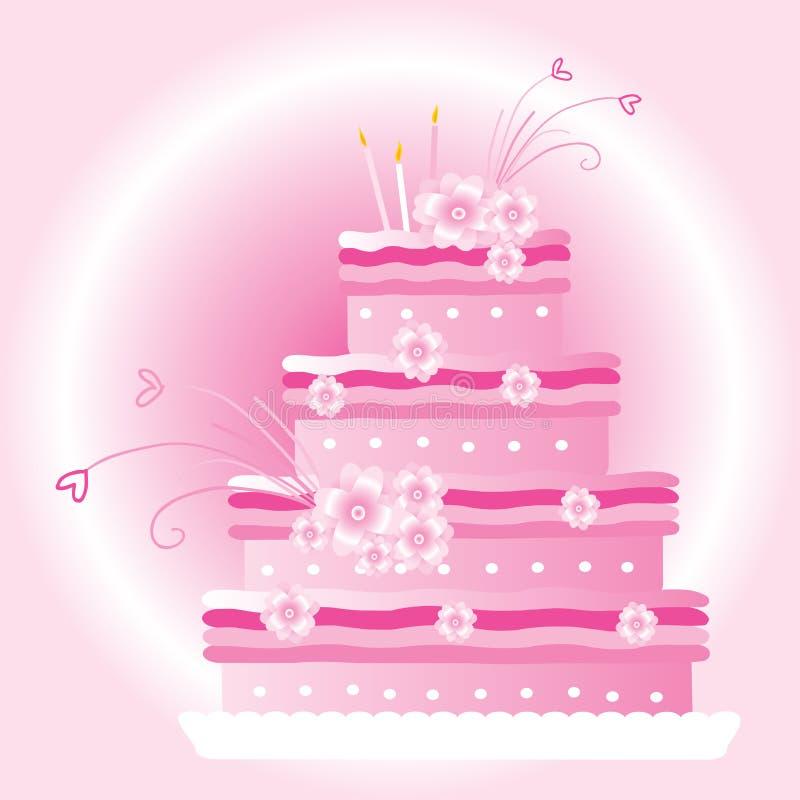 蛋糕婚礼 向量例证