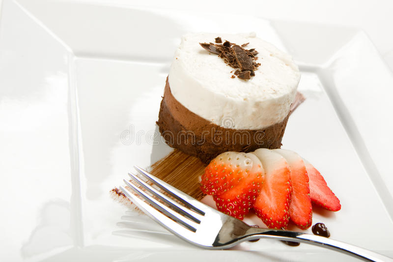 蛋糕巧克力层奶油甜点三 图库摄影