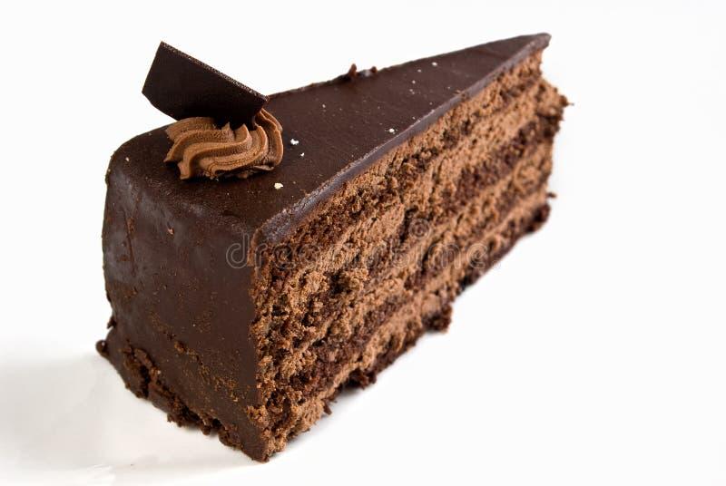 蛋糕巧克力层状的奶油ganache 免版税库存照片