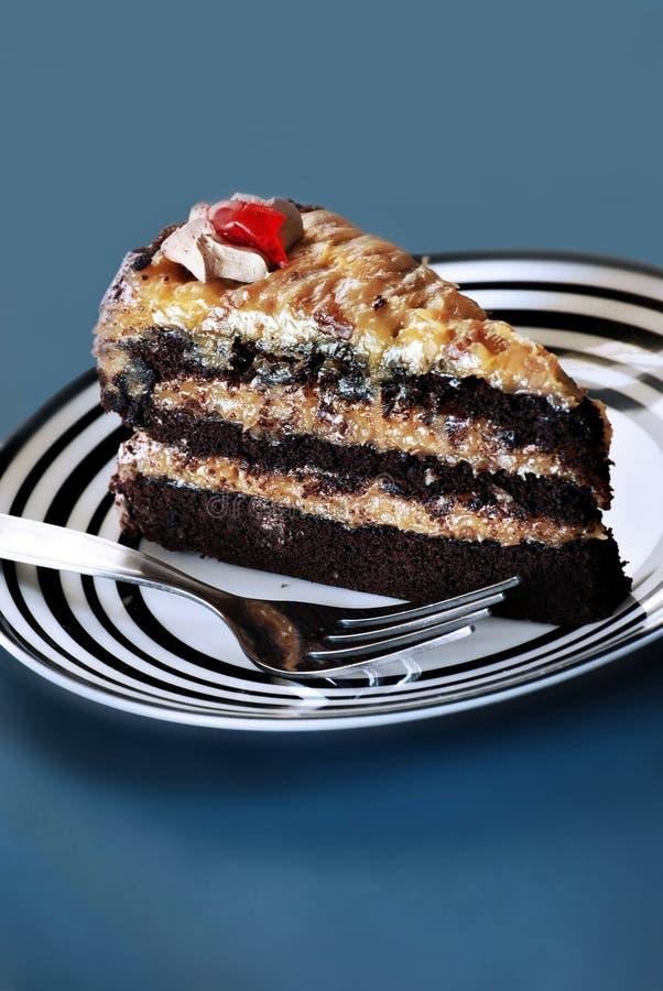 蛋糕巧克力德语 免版税库存照片