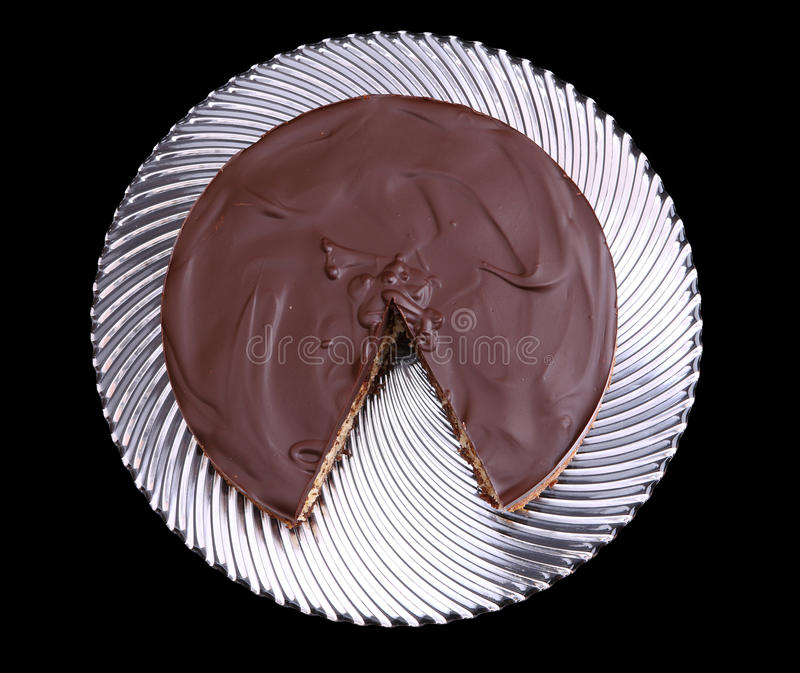蛋糕巧克力椰子 免版税库存照片