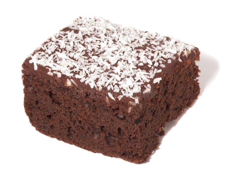 蛋糕巧克力椰树查出顶部白色 库存照片