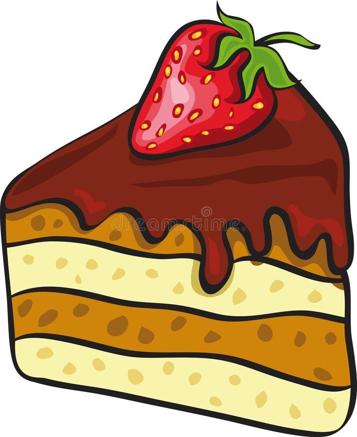蛋糕巧克力片 库存例证