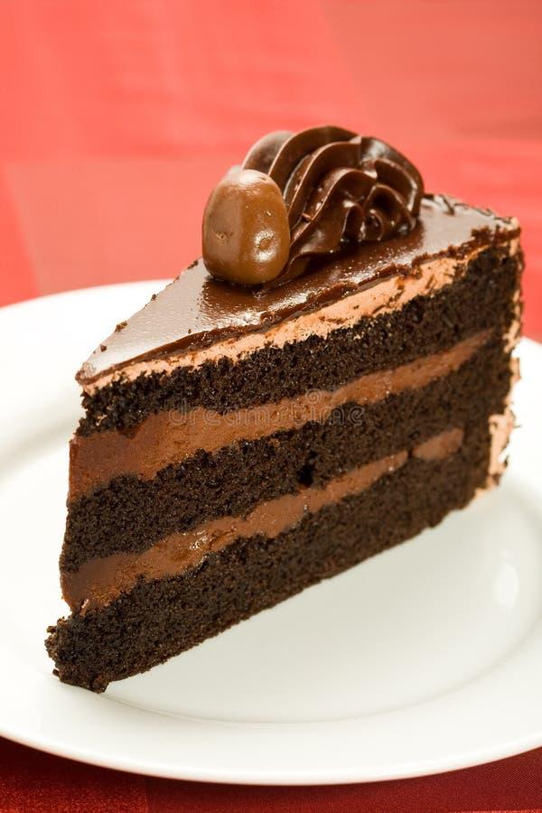 蛋糕巧克力第三层 免版税库存图片