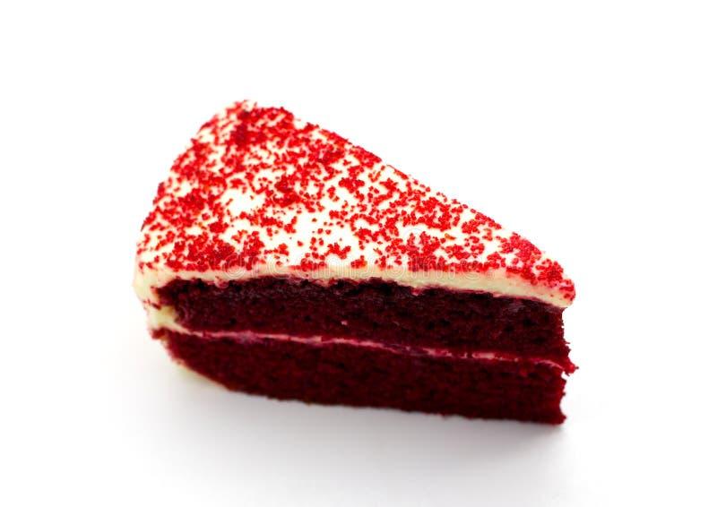 蛋糕巧克力红色天鹅绒 免版税库存照片