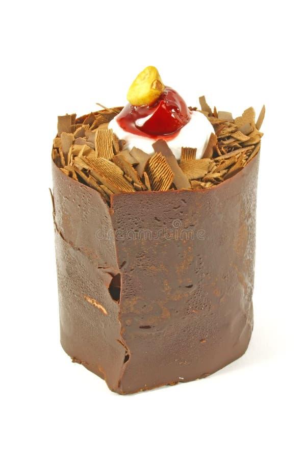 蛋糕巧克力花梢 免版税图库摄影
