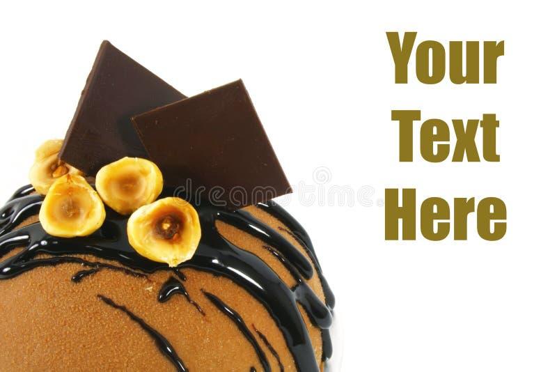蛋糕巧克力花梢 免版税库存照片