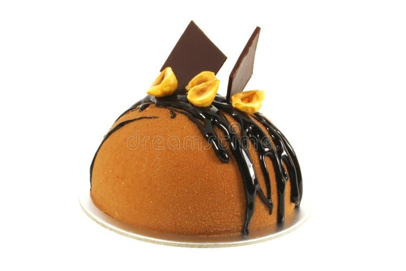 蛋糕巧克力花梢 图库摄影