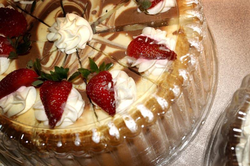 蛋糕巧克力草莓 库存照片