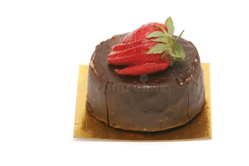 蛋糕巧克力草莓 图库摄影
