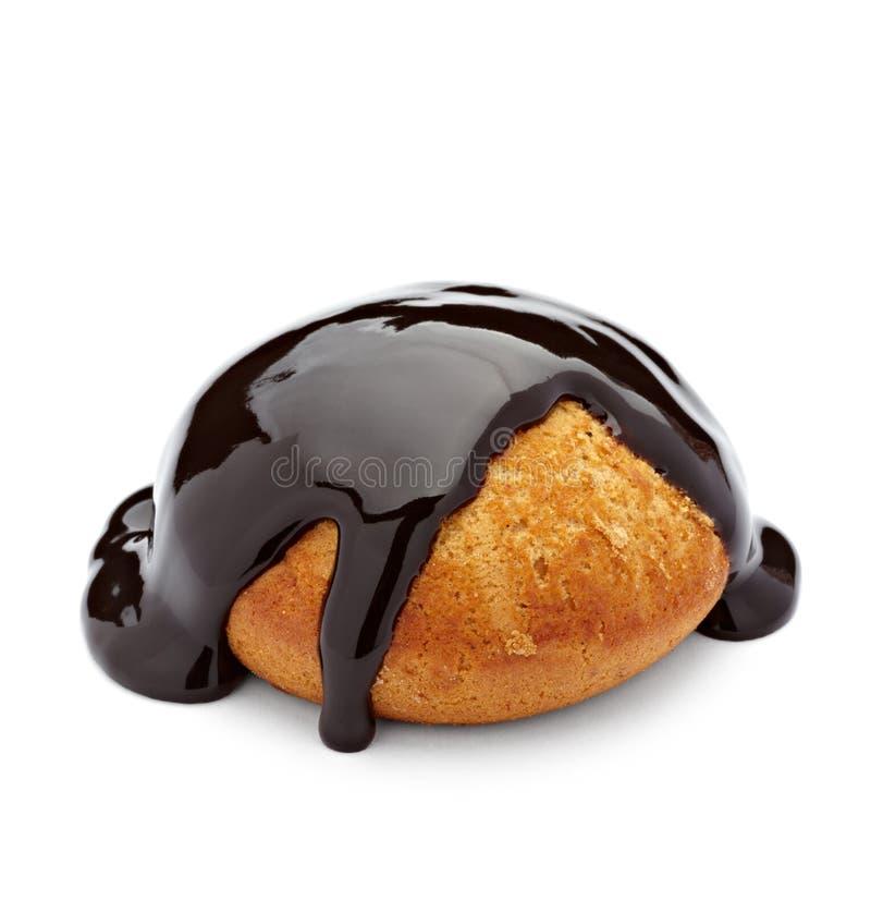 蛋糕巧克力蜂蜜糖浆 免版税库存照片