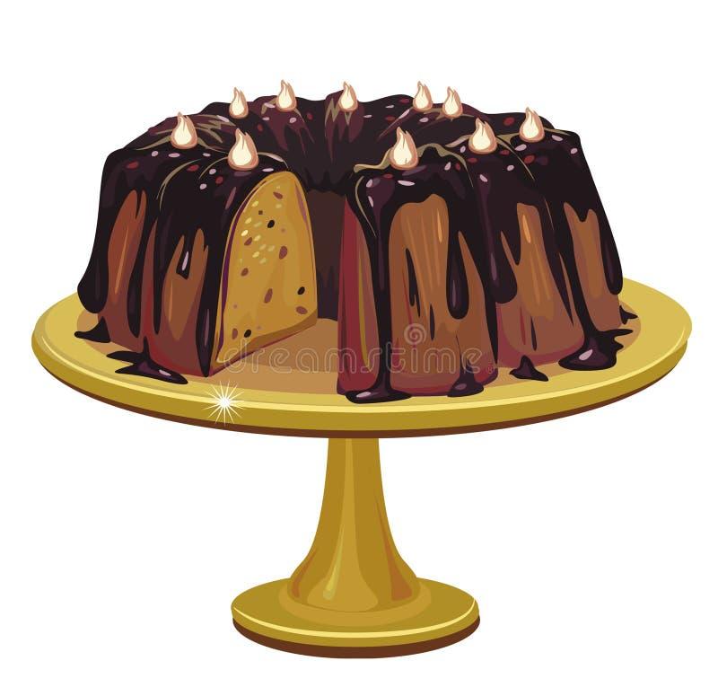 蛋糕巧克力 向量例证