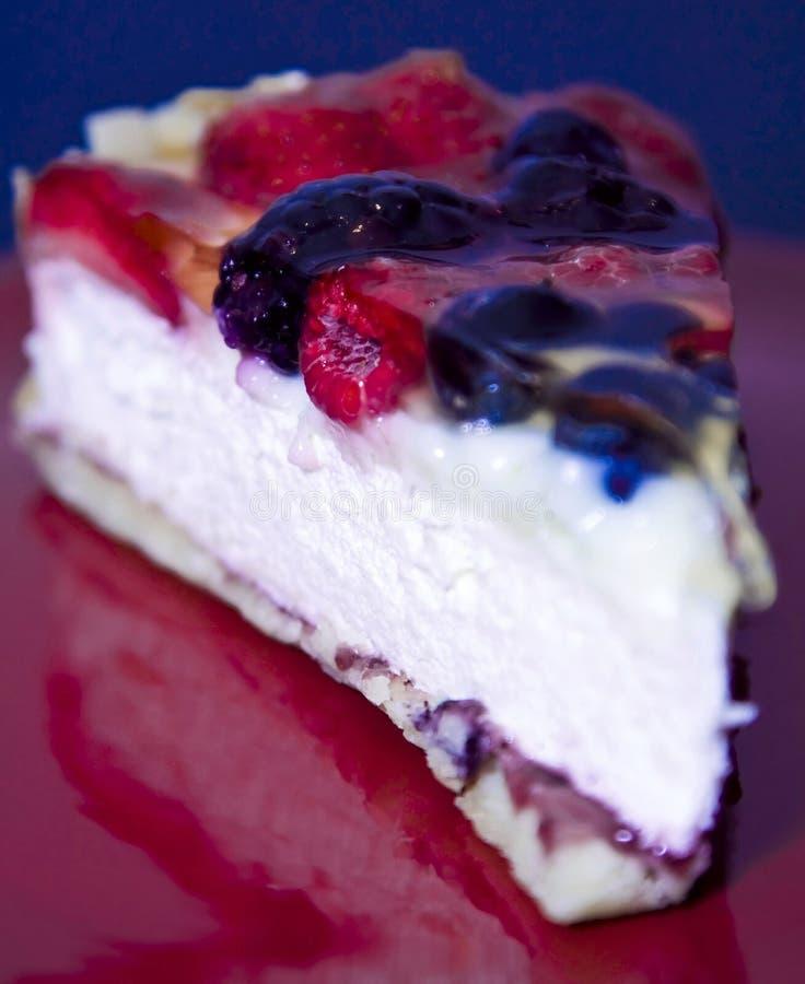 蛋糕干酪果子 免版税库存照片