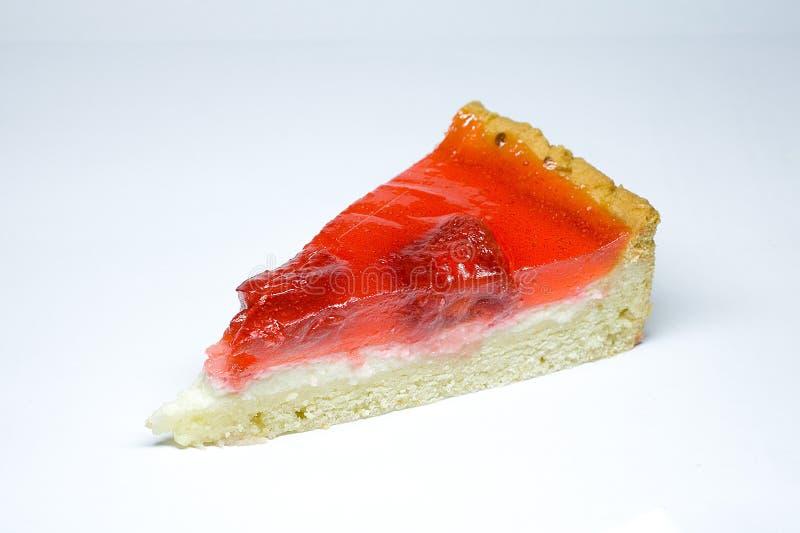 蛋糕干酪草莓 图库摄影