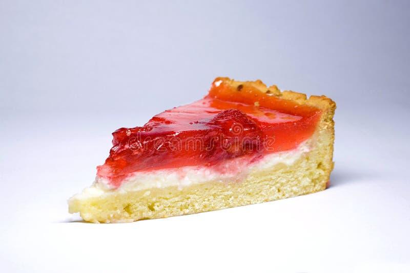 蛋糕干酪草莓 免版税库存图片