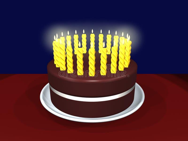 蛋糕庆祝 库存例证