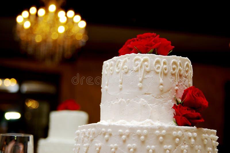 蛋糕开花婚礼 图库摄影