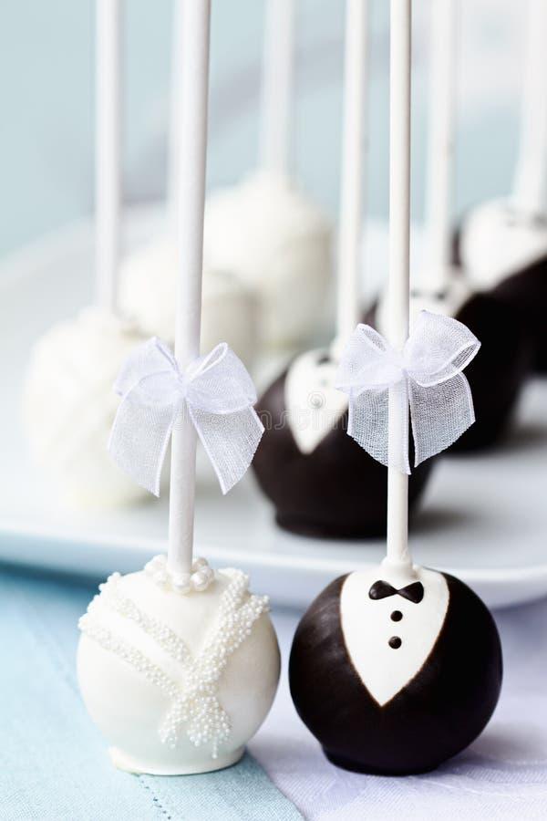 蛋糕弹出婚礼 库存照片