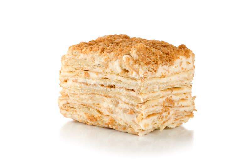 蛋糕拿破仑 库存图片