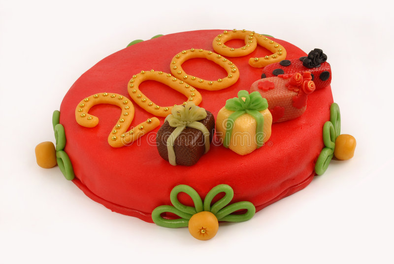 蛋糕新年度 免版税库存照片
