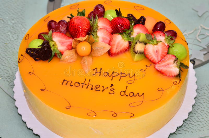 蛋糕日母亲s 图库摄影
