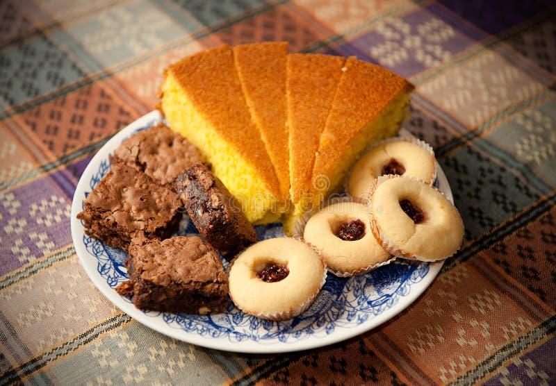 蛋糕曲奇饼 免版税库存图片
