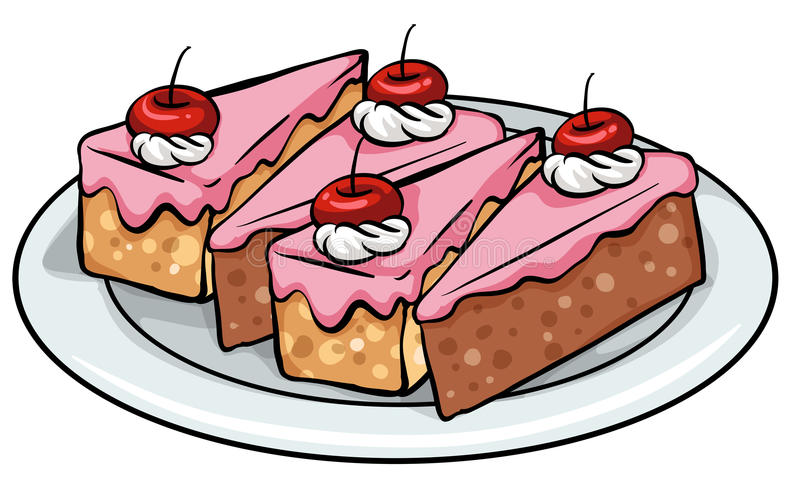 蛋糕板材  向量例证