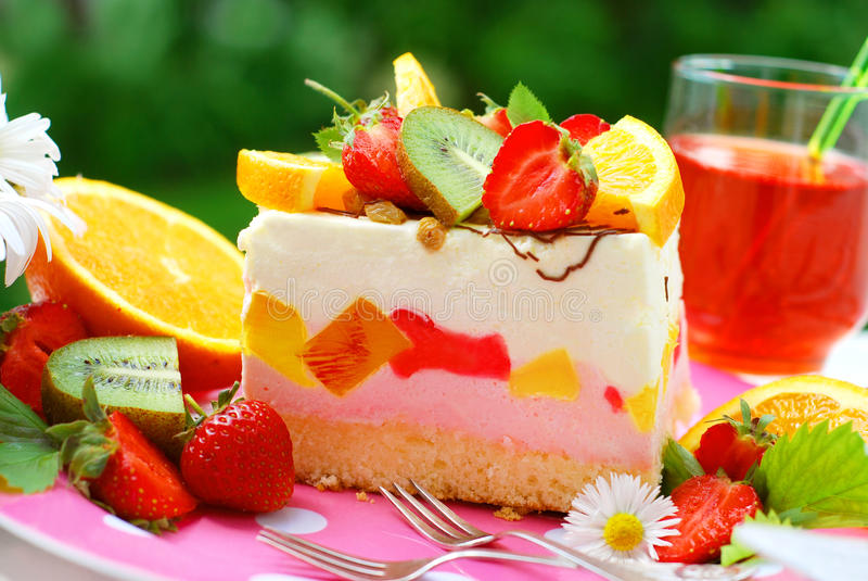 蛋糕果子蛋白软糖 库存照片