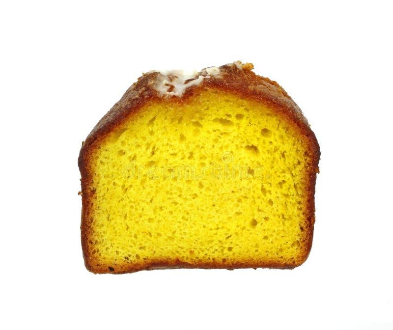 蛋糕柠檬大面包片式 库存图片