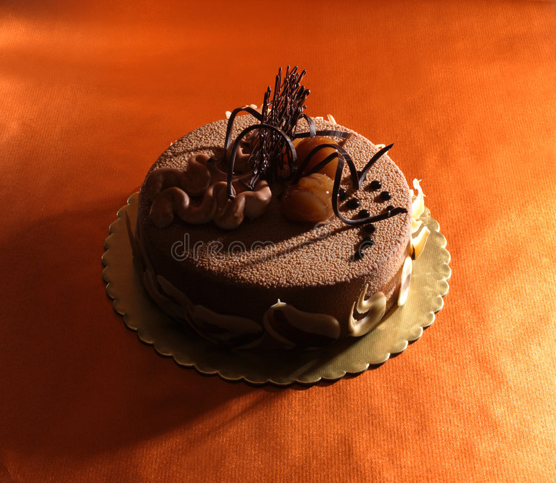 蛋糕栗子 库存图片