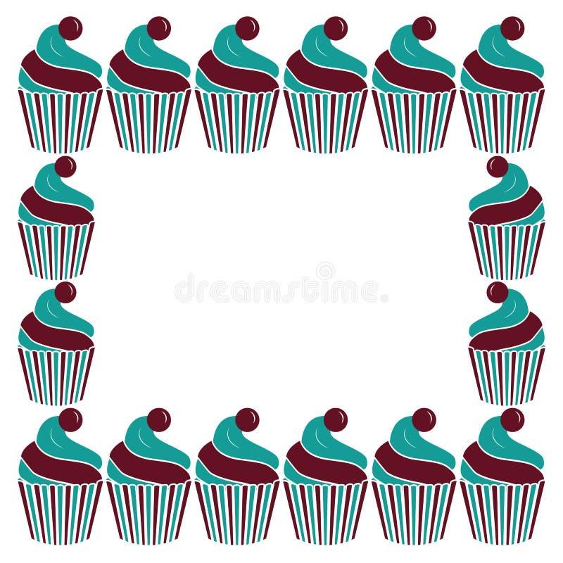 蛋糕框架 库存例证