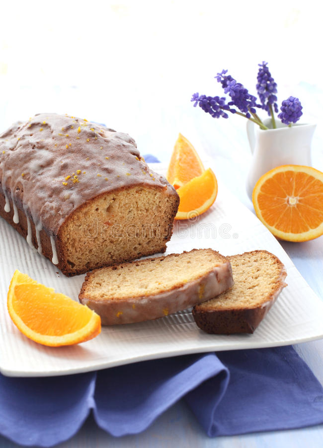 蛋糕桔子 库存图片