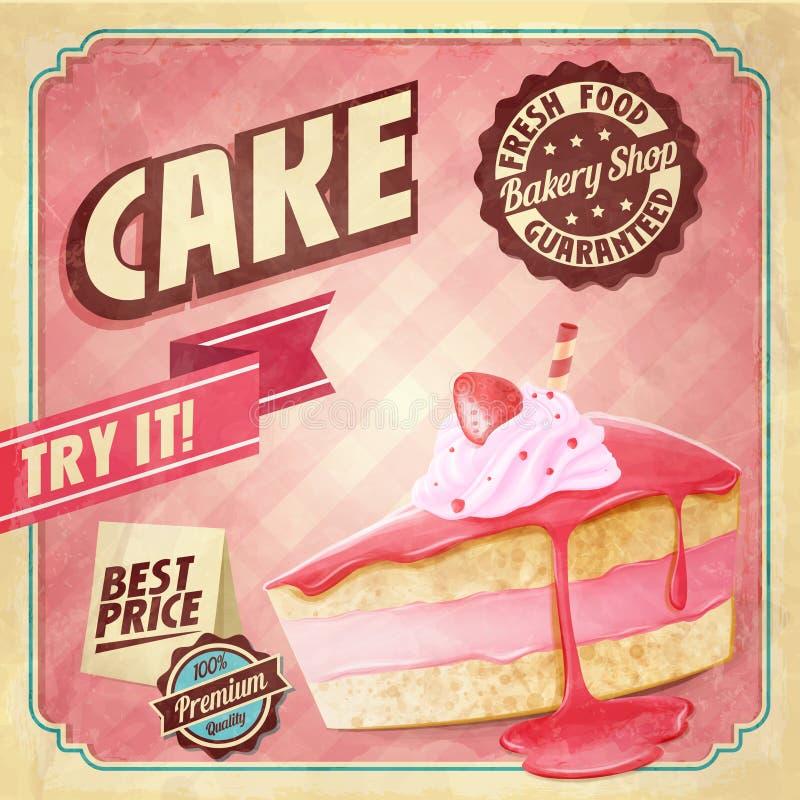 蛋糕横幅 皇族释放例证