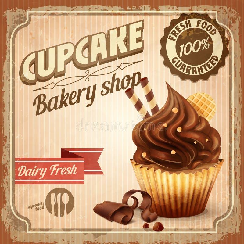 蛋糕横幅 库存例证