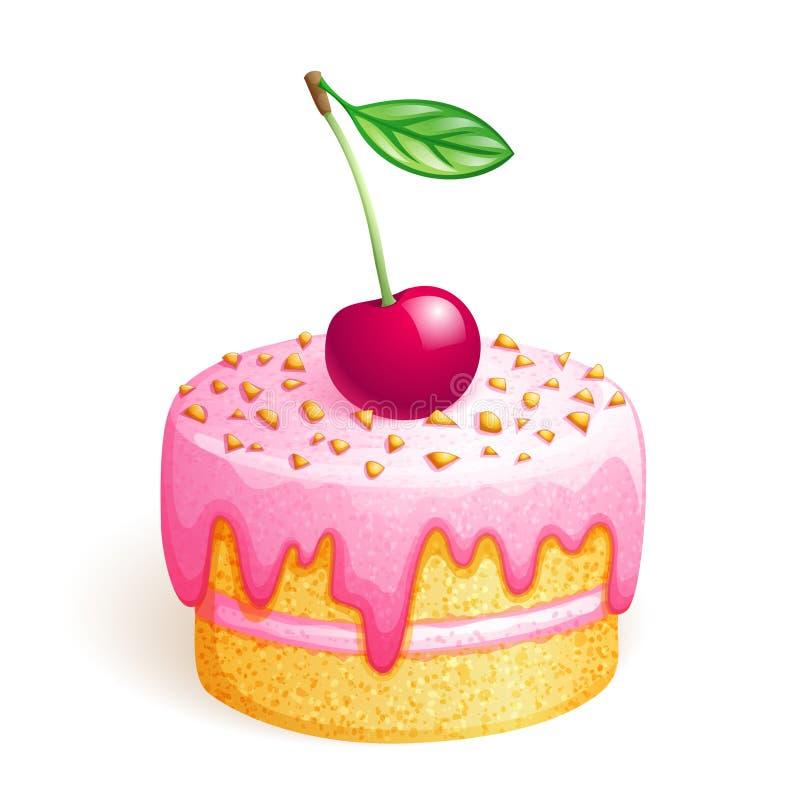 蛋糕樱桃 库存例证