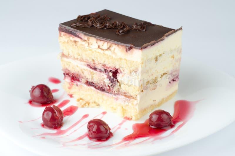 蛋糕樱桃 库存图片