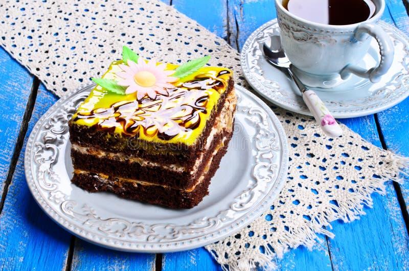 蛋糕正方形 库存照片