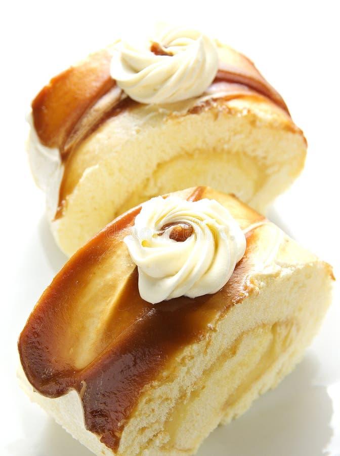 蛋糕焦糖卷 库存图片