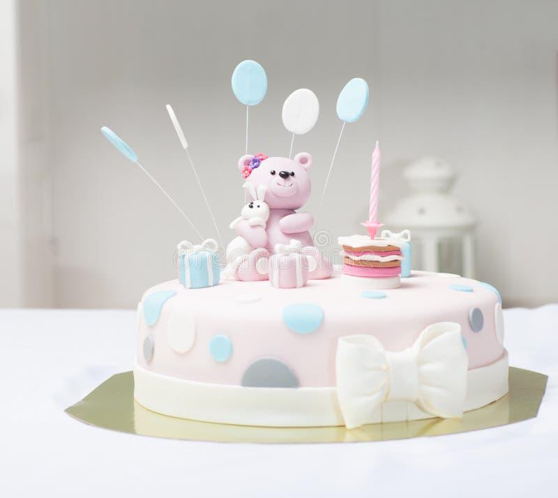 蛋糕熊 免版税库存照片
