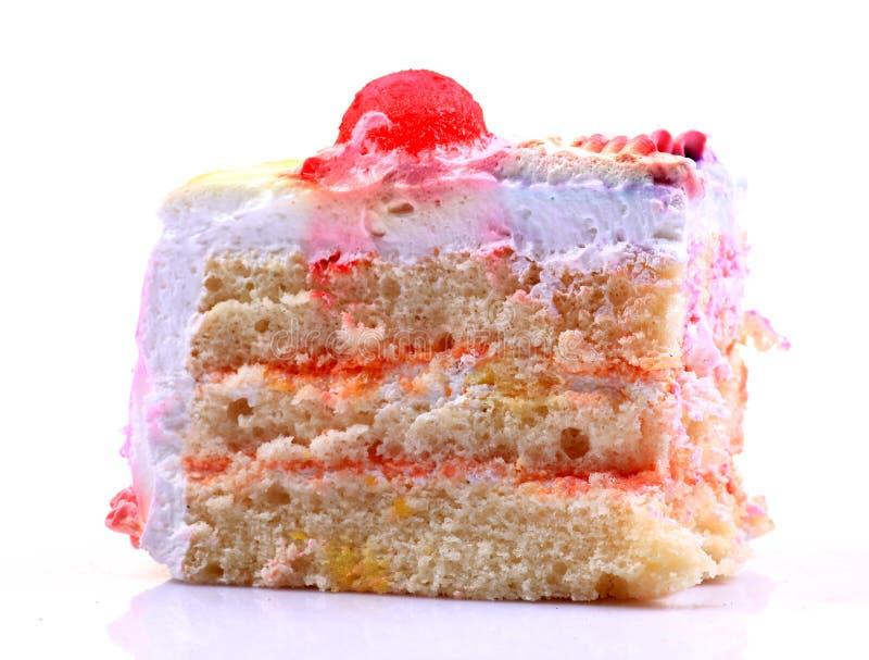 蛋糕片断 库存图片