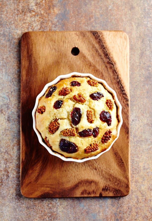 蛋糕用干蔓越桔和桑 库存照片