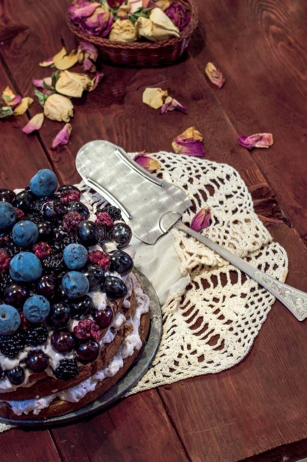 蛋糕用浆果 免版税图库摄影