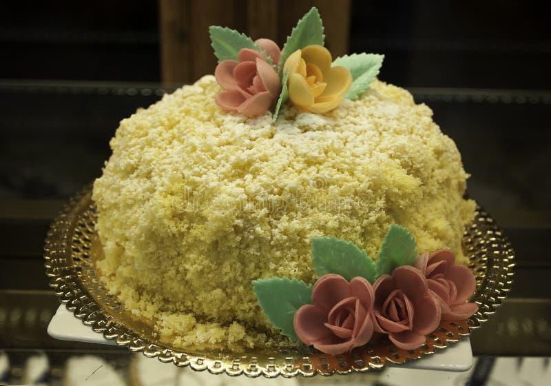 蛋糕用米和椰树 免版税库存照片